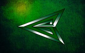 Текстуры: зеленый, текстура, царапины, боевой., изумрудный, серебряный, наконечник, переливается, центр, фон, зеленая стрела