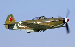 Авиация: пилот, истребитель, полет, ретро, самолет
