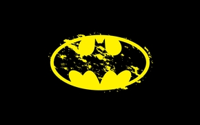 Минимализм: фон, лого, Бэтмен