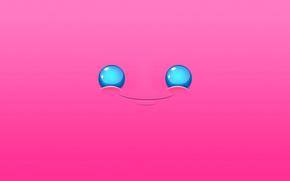 Минимализм: рот, глаза, абстракция, улыбка