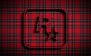 Текстуры: звезда, объем, шотландка, ткань, эмблема, рок