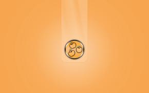 Минимализм: объем, яблоко, полоса, эмблема