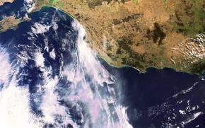 Космос: Виктор-Харбор, небо, Портленд, снимок, облака, земля, космос
