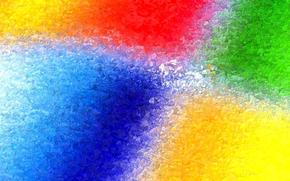 Текстуры: операционная система, краски, кристаллы, компьютер, цвет, эмблема