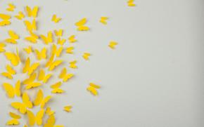 Минимализм: текстура, аппликация, бабочка, объем