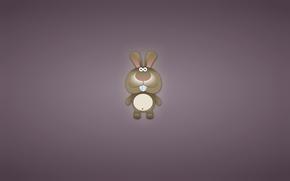 Минимализм: кролик, заяц, ушастый, животное, минимализм, зубастый