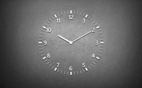 Минимализм: часы, фон, циферблат