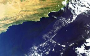 Космос: земля, облака, небо, Порт-Элизабет, космос, снимок