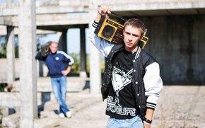 Мужчины: парень, фотограф, магнитофон