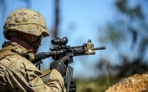 Мужчины: солдат, оружие, армия