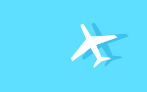 Минимализм: тень, авиация, фюзеляж, самолет, силуэт