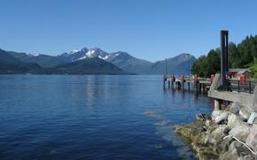 Пейзажи: Норвегия, горы, озеро, вода