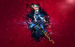 Рендеринг: маска, прыжок, форма, щит, капитан америка