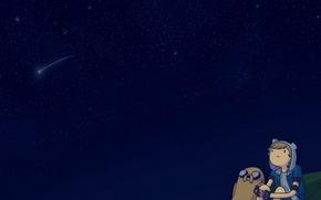 Фильмы: Мультфильм, Время Приключений, Фин, Звезды, Небо, Джейк