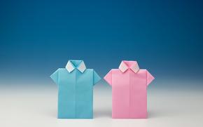 Минимализм: рубашки, бумага, мужские, фон