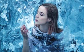 Ситуации: лёд, девушка, холод