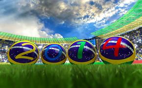 Спорт: футбол, бразилия, стадион, мяч, чемпионат мира