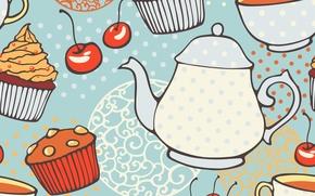 Текстуры: текстура, кексы, чайник