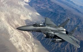 Авиация: «Игл», тактический, истребитель, горы, полет