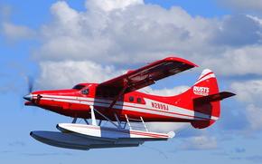 Авиация: небо, легкий, турбовинтовой, одномоторный, самолёт