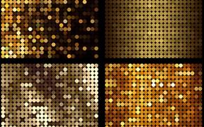 Текстуры: текстура, желто-золотые, круги