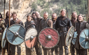 Фильмы: исторический, сериал, щиты, Викинги, Трэвис Фиммел, воины