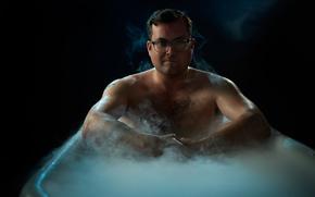 Мужчины: ванна, актёр