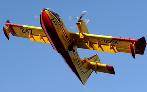 Авиация: небо, самолет-амфибия, многоцелевой, канадский