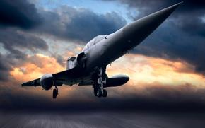 Авиация: взлёт, самолёт, облака, небо