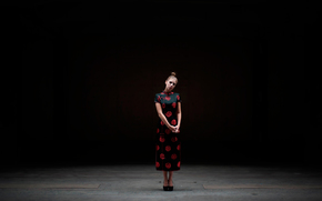 Минимализм: девушка, причёска, взгляд, платье, ципао
