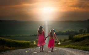 Ситуации: дорога, путь, девочки, простор, кукуруза