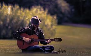 Музыка: гитара, гитарист, музыка