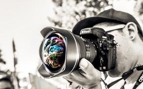 Разное: фотограф, объектив