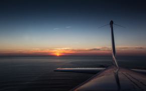 Авиация: закат, самолёт
