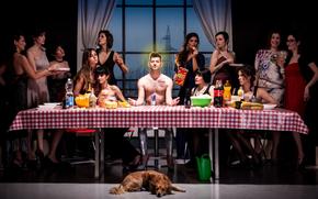 Ситуации: парень, собака, застолье, юмор, девушки