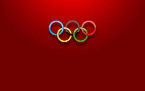 Минимализм: спорт, кольца, цвет, олимпиада, объем