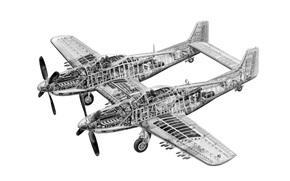 Авиация: «Твин Мустанг», конструкция, дальний, схема, Норт Америкэн, двухместный, истребитель
