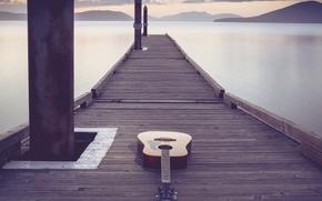 Музыка: гитара, мост, музыка
