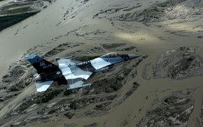 Авиация: истребитель, «Файтинг Фалкон», ландшафт, многоцелевой, полёт