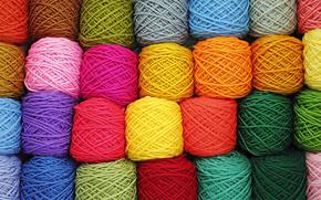 Текстуры: танов, цветных, клубки, оттенков, пряжа, собранные, разнообразие, разноцветный, фон, нитей, текстура