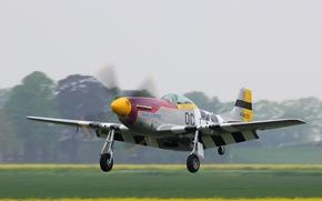 Авиация: американский, истребитель, самолёт, взлёт, аэродром, дальнего радиуса действия, одноместный