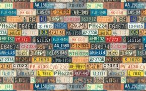 Текстуры: текстуры, знаки, цифры, штаты, США, фон, буквы, номера