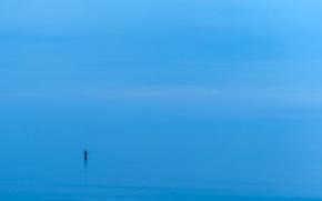 Минимализм: море, минимализм, человек