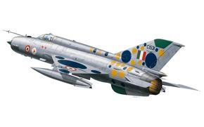 Авиация: многоцелевой, первый, боевой, более, ВВС, сверхзвуковой, использовался, истребитель, разработанный, самый, с, треугольным, арт, Индии., СССР, вооружении, ОКБ Микояна, в, советский, на, мире, Гуревича, распространенный, состоял