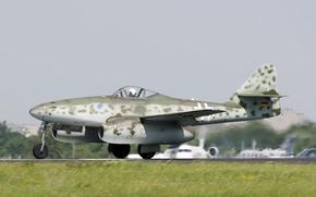Авиация: бомбардировщик, мировой, войны, Мессерщмитт, самолёт-разведчик, аэродром, истребитель, реактивный, Второй, времён