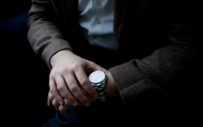 Мужчины: человек, часы, руки, пиджак, время