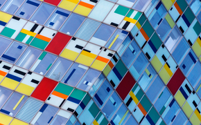 Текстуры: цвета, окна, здание