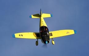 Авиация: учебно-тренировочный, небо, пилотажный, самолет, двухместный