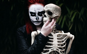 Ситуации: настроение, скелет, девушка, смерть