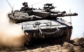Оружие: пыль, танк, боевой, основной, Меркава, Израиля